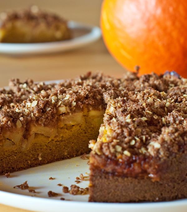 Vollkorn-Apfel-Kürbis-Kuchen