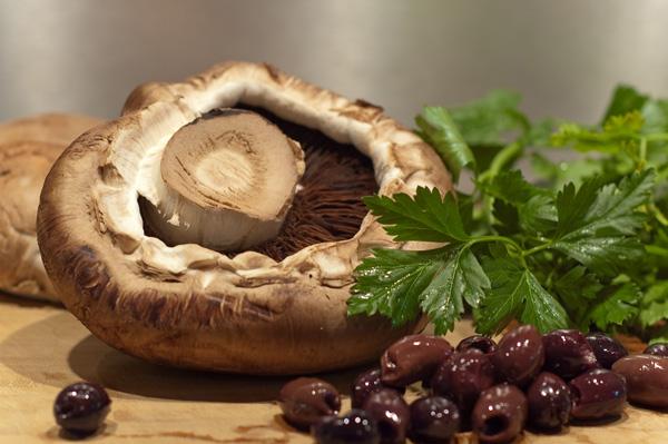 Gratinierte Portobello-Champignons
