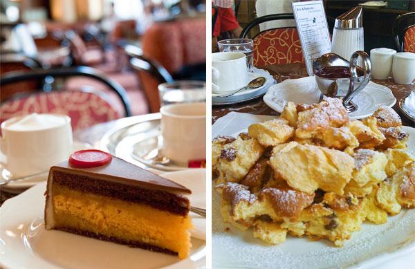Café Central Torte und Kaiserschmarren