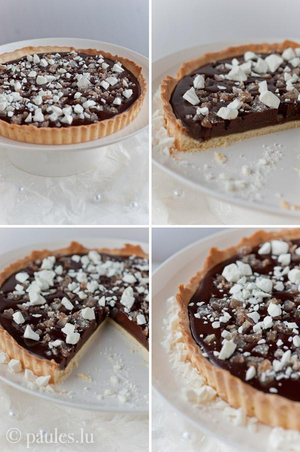Schokoladen-Maronen-Tarte mit Tonkabohne