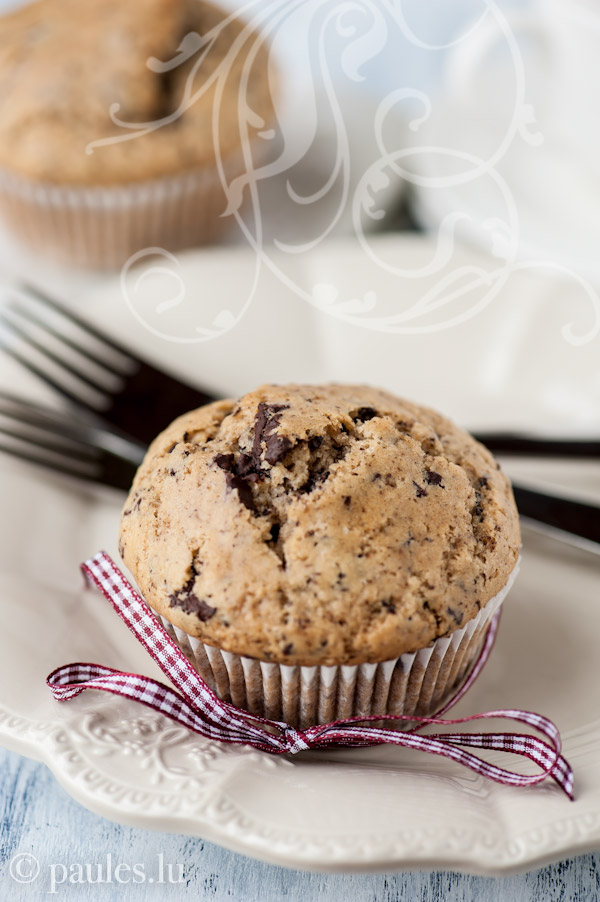 Vegane Schoko-Tupfen-Muffins