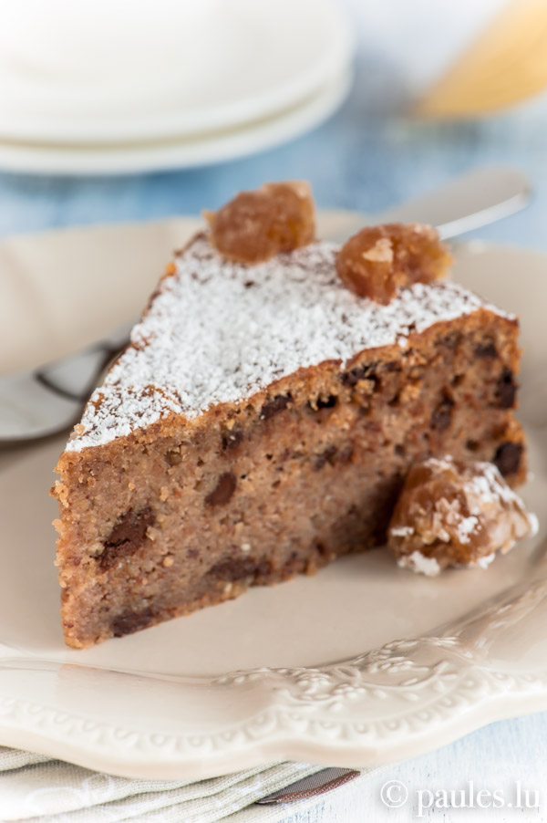 Maronikuchen mit Schokolade